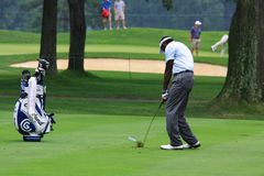 Pro Vijay Singh on the fairway Royalty Free Stock Photos