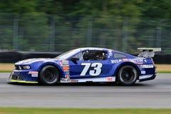 Pro voiture de course de Ford Mustang sur le cours Images libres de droits