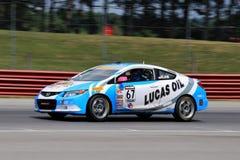 Pro voiture de course de Honda Civic SI sur la voie Images libres de droits