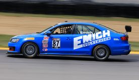 Pro Volkswagen Jetta GLi race car on the track Royalty Free Stock Photography