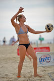 Pro volleyball de plage de 2013 femmes photos libres de droits