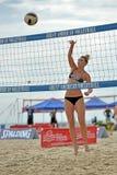 Pro volleyball de plage de 2013 femmes images libres de droits