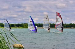 Pro Windsurfing Regatta Royalty Free Stock Photos