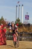 Pro Woman Cyclocross Racer Stock Photos