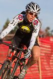 Pro Woman Cyclocross Racer Royalty Free Stock Photos