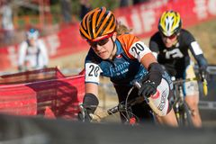 Pro Women Cyclocross Racers Royalty Free Stock Photo
