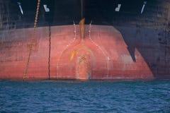Proa de la nave del buque de petróleo fotografía de archivo