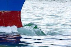 Proa de la nave del buque de petróleo fotografía de archivo libre de regalías