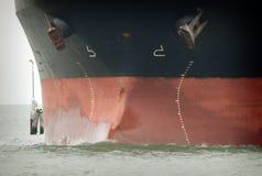 Proa del buque de petróleo Fotos de archivo libres de regalías