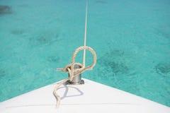 Proa do barco da velocidade no mar Fotografia de Stock Royalty Free