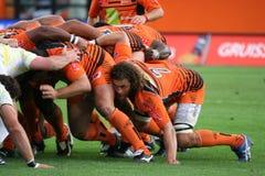 Proabgleichung RCNM des Rugbys D2 gegen Stade Montois Lizenzfreie Stockfotografie