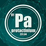 Proactinium chemisch element royalty-vrije illustratie