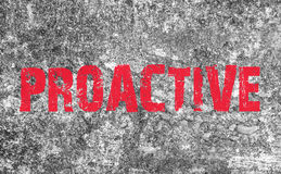 Proactive Concept text on grunge background and texture Stock Photo