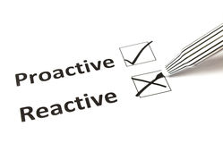 Proactive kritateckning - som är reactive eller Fotografering för Bildbyråer