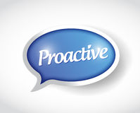 Proactive message bubble illustration design Stock Photos