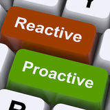 Proactive And Reactive Keys Show Initiative And Improvement Royalty Free Stock Photo