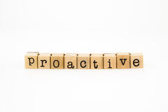 Proactive wording isolate on white background Royalty Free Stock Photos