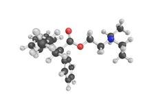 Proadifen, un inhibiteur non sélectif des enzymes du cytochrome P450, images libres de droits