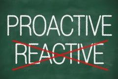 Proaktives und reagierendes handgeschriebenes stock abbildung