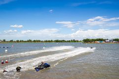 Proausflug G-Schock Jetski Thailand 2014 Internationa Lizenzfreie Stockfotos