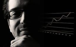 Probabilidade de negócio próspera Imagem de Stock
