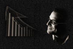 Probabilidade positiva da economia foto de stock