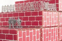 Probabilidades imposibles de los hombres del ejército Imagen de archivo libre de regalías