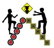 Probabilità disuguali per i ragazzi e le ragazze Immagine Stock Libera da Diritti