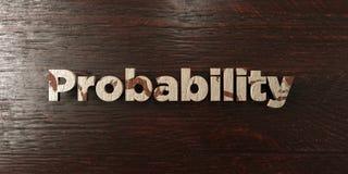 Probabilité - titre en bois sale sur l'érable - image courante gratuite de redevance rendue par 3D illustration stock