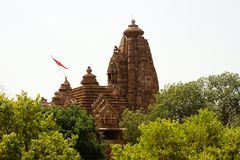 probably the Temple Javari in Khajuraho stock photos
