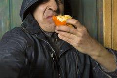 Probar la mandarina estropeada fotos de archivo