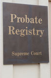 Probate Registry Royalty Free Stock Image