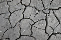 Probe des Bodens crackinged vom heißen Klima lizenzfreie stockfotografie