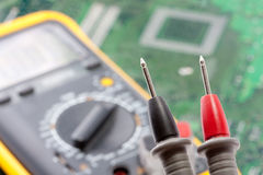 Probe of digital multimeter Stock Image