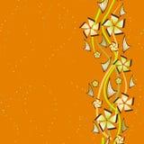 Probe eines abstrakten nahtlosen Blumenhintergrundes Stockbilder