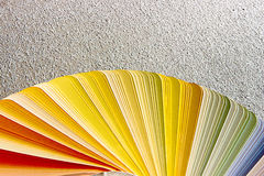 Probe färbt Katalog Abbildung auf Schwarzem Lizenzfreie Stockfotos