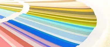 Probe färbt Katalog Abbildung auf Schwarzem Stockfotos