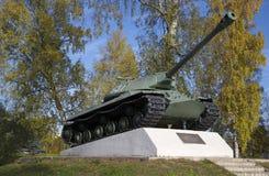 Probe 1945 Priozersk, Leningrad-Region des Behälters IS-3 Stockbild