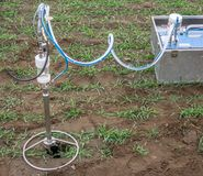 Probe and pump for extracting soil air from the subsoil to test Royalty Free Stock Photography