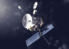 Probe in Space. A space probe exploring the solar system. 3D illustration Stock Photography