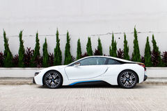 Probefahrt BMWs i8 2014 Lizenzfreie Stockfotos