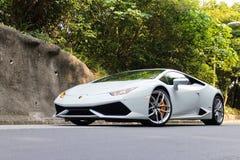Probefahrt Lamborghinis Huracan LP610-4 2014 Lizenzfreies Stockfoto