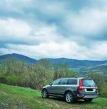 Probefahrt 70 Volvos XC am 3. Mai 2013 in Ukraine Stockfotografie