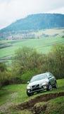 Probefahrt 70 Volvos XC am 3. Mai 2013 in Ukraine Lizenzfreie Stockbilder