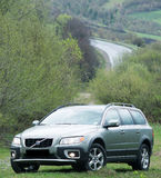 Probefahrt 70 Volvos XC am 3. Mai 2013 in Ukraine Lizenzfreie Stockfotos