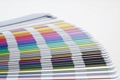 Probeflasche der pantone Farben Stockbild