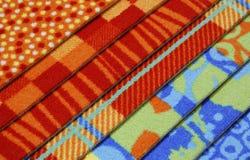 Proben der Bedeckungen eines Teppichs Lizenzfreies Stockfoto