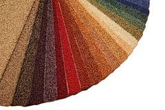 Proben der Teppichbedeckung lizenzfreie stockbilder
