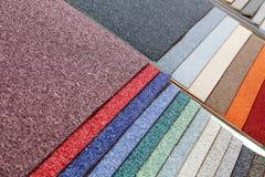 Proben der Teppiche Stockfotos