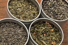 Proben des grünen Tees Lizenzfreie Stockfotos